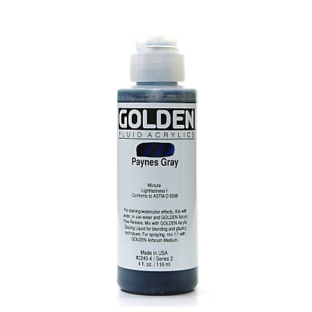 Golden Fluid Acrylic Paint, 4 Oz, Payne's Gray