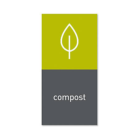 "simplehuman Magnetic Trash Label, Compost, 4"" x 8"", Gray"