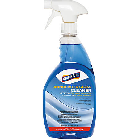Genuine Joe Ammoniated Glass Cleaner - Ready-To-Use Spray - 0.25 gal (32 fl oz) - 6 / Carton - Dark Blue