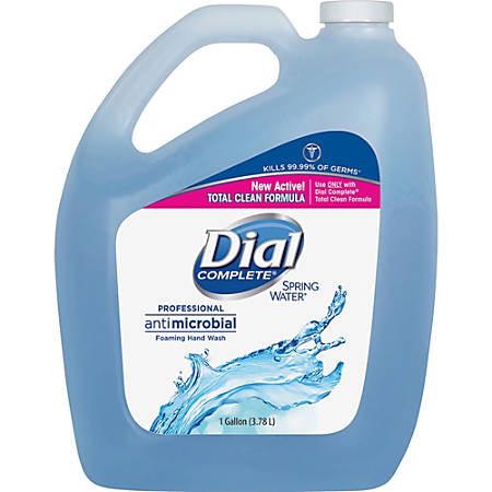 Dial Professional Foaming Hand Wash - Spring Water Scent - 1 gal (3.8 L) - Kill Germs - Hand - Blue - Antimicrobial - 1 Each