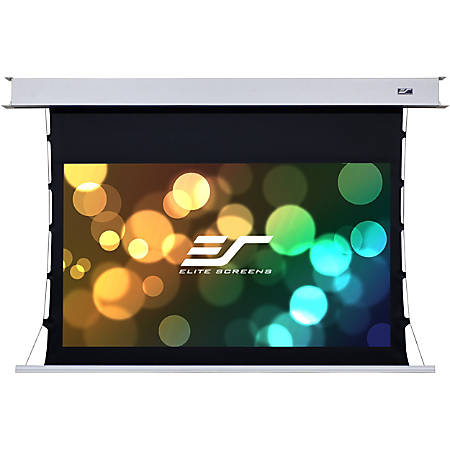 Elite Screens Evanesce Tab-Tension B - 120-inch 16:9, 4K / 8K HD Ready, Recessed In-Ceiling Electric Tab Tensioned Projector Screen, Matte White Projection Screen Surface, ETB120HW2-E8""
