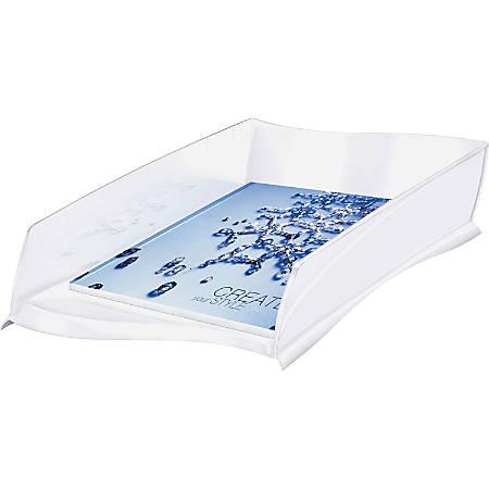 "CEP Letter Tray - 500 x Sheet - 3.2"" Height x 10.8"" Width x 15"" Depth - Desktop - White - Polystyrene - 1Each"