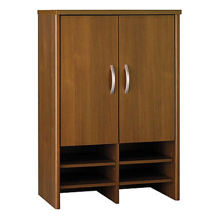 "Bush Business Furniture Components Hutch 30""W, Warm Oak, Standard Delivery"