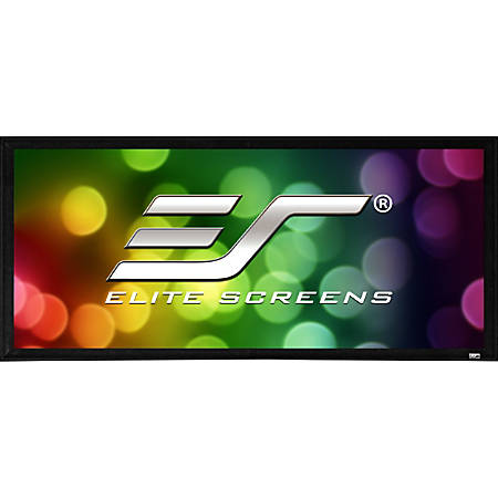 Elite Screens Sable Frame 2 Series - 180-inch Diagonal 16:9, Active 3D 4K Ultra HD Ready Fixed Frame Home Theater Projection Projector Screen, ER180WH2""