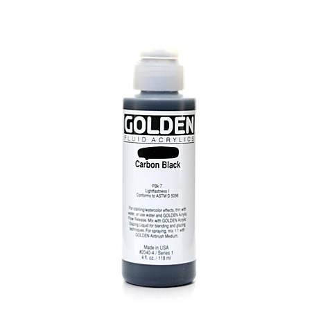 Golden Fluid Acrylic Paint, 4 Oz, Carbon Black