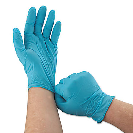 Kleenguard G10 Disposable Powder-Free Nitrile Gloves, Large, Blue, Box of 100 Gloves