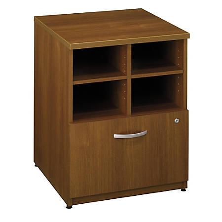 "Bush Business Furniture Components Storage Cabinet, 24""W, Warm Oak/Warm Oak, Standard Delivery"