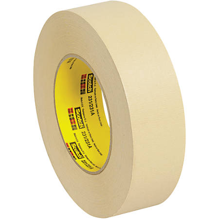 "3M™ 231 Masking Tape, 3"" Core, 1.5"" x 180', Tan, Case Of 24"