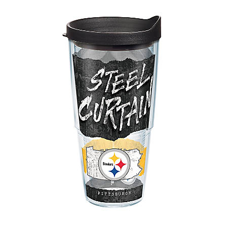 Tervis NFL Statement Tumbler With Lid, 24 Oz, Pittsburgh Steelers