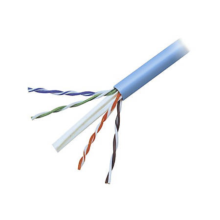 Belkin Cat.6 UTP Network Cable - 1000 ft Category 6 Network Cable for Network Device - Bare Wire - Bare Wire - Blue