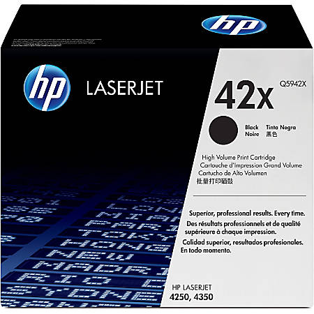 HP 42X, Black Original Toner Cartridge (Q5942X)