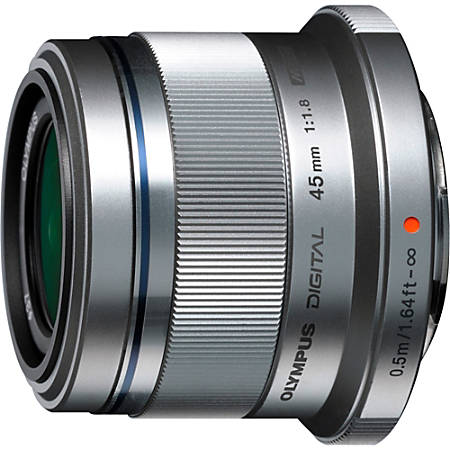 """Olympus V311030SU000 - 45 mm - f/1.8 - Fixed Focal Length Lens for Micro Four Thirds - 37 mm Attachment - 0.11x Magnification - 1.8""""Diameter"""