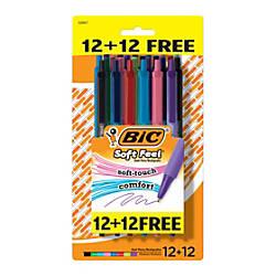 BIC Soft Feel Retractable Ballpoint Pens