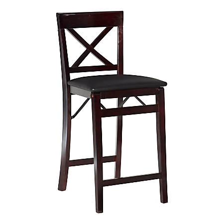 Linon Home Décor Products Richland X-Back Counter Stool, Espresso/Brown