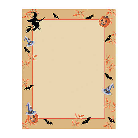"""Great Papers!® Holiday-Themed Letterhead Paper, 8 1/2"""" x 11"""", Halloween Harvest, Pack Of 80 Sheets"""