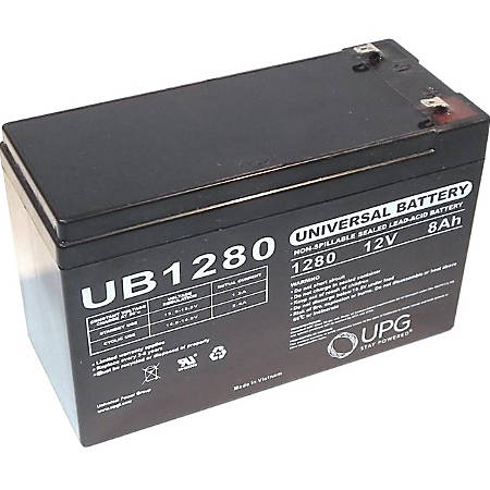 eReplacements Compatible UPS Battery Replaces APC UB1280, GT12080-HG,  Unison UB1280 - 8000 mAh - 12 V DC - Sealed Lead Acid (SLA) Battery Item #