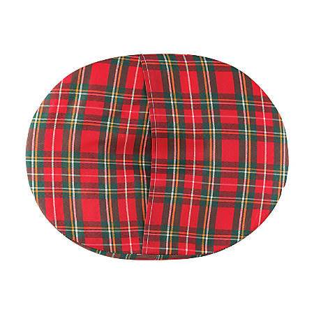 "DMI® Convoluted Foam Donut Seat Cushion, 3""H x 18""W x 15""D, Plaid"