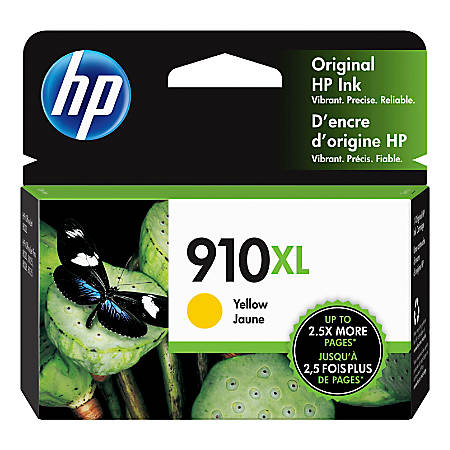 HP 910XL High-Yield Yellow Ink Cartridge
