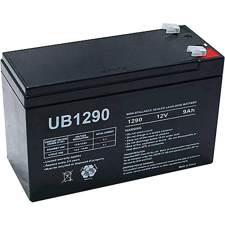 eReplacements Compatible Sealed Lead Acid Battery Replaces APC UB1290, CSB UB1290, UniversalPowerGroup UB1290 - For Multipurpose - Battery Rechargeable - 12 V DC - 9000 mAh - Sealed Lead Acid (SLA) - 1