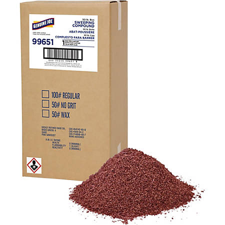 Genuine Joe Non-petroleum Sweeping Compound - 1 Box - Red
