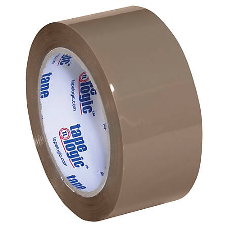 "Tape Logic® Acrylic Sealing Tape, 3"" Core, 2"" x 55 Yd., Tan, Pack Of 36"