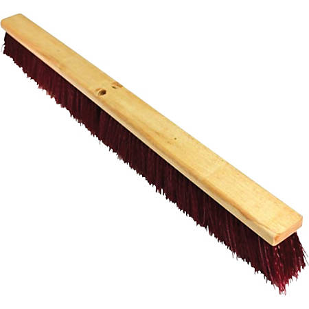 Genuine Joe Maroon Broomhead - 1 Each - Maroon - Polypropylene