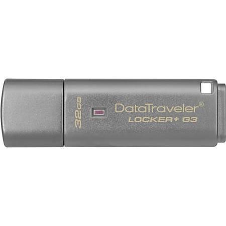 Kingston 32GB DataTraveler Locker+ G3 USB 3.0 Flash Drive
