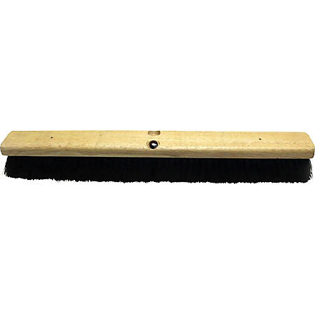 "Genuine Joe Hardwood Block Tampico Broom - Tampico Fiber Bristle - 24"" Overall Length - 1 Each"