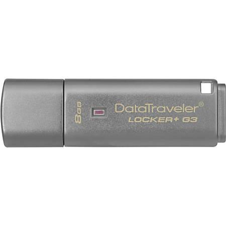 Kingston 8GB DataTraveler Locker+ G3 USB 3.0 Flash Drive