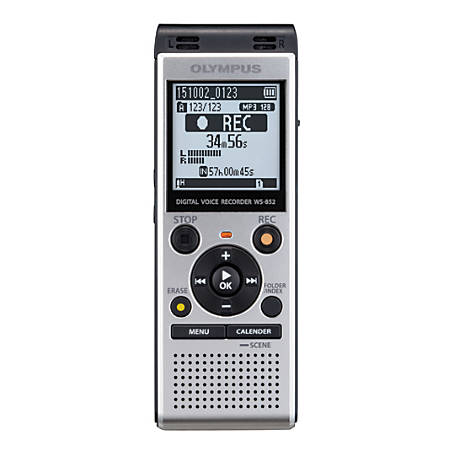 Olympus® WS-852 Digital Voice Recorder, Silver Item # 975674