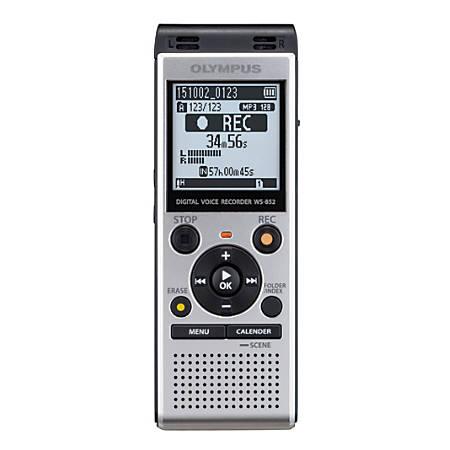 Olympus® WS-852 Digital Voice Recorder, Silver