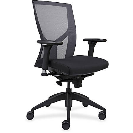 Lorell™ Mesh High-Back Chair, Black