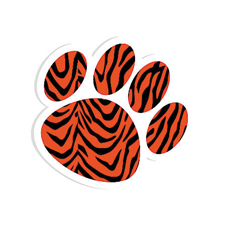 """Ashley Productions Magnetic Whiteboard Erasers, 3 3/4"""", Tiger Paw, Pack Of 6"""