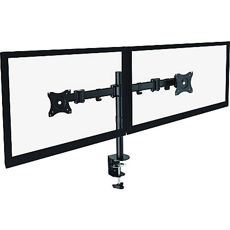 """Lorell Active Office Mounting Arm for Monitor - Black - 2 Display(s) Supported27"""" Screen Support"""