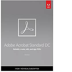 Adobe Acrobat Standard DC 1 Year
