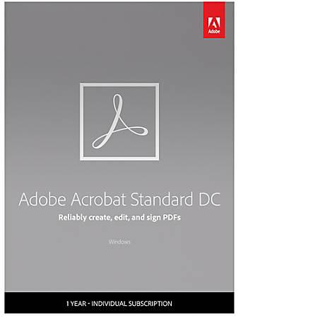 Adobe Acrobat Standard DC, 1-Year Subscription, Download Version