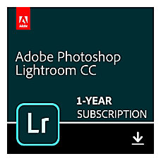 Adobe Lightroom CC 1 Year Subscription