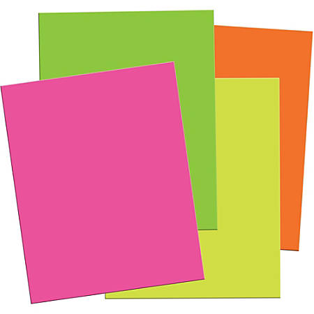 "Pacon Neon Foam Board - 30"" x 20""187.5 mil - 12 / Carton - Assorted Neon - Foam"