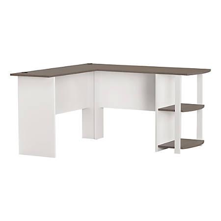 Ameriwood™ Home Dakota L-Shaped Desk With Bookshelves, White