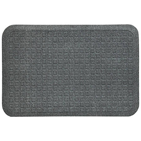 "Get Fit Designer Top Floor Mat, 22"" x 50"", Gray Herringbone"