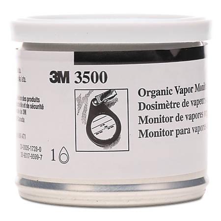 3M™ 3500 Organic Vapor Monitors, Orange, Case Of 10