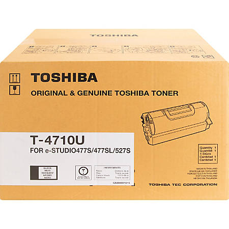 Toshiba T4710U Original Toner Cartridge - Black - Laser - 36000 Pages - 1  Each Item # 9759572