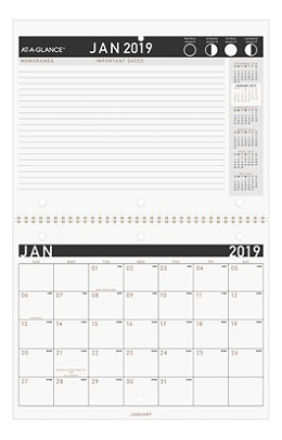 at a glance contemporary monthly wall calendar julian daily monthly