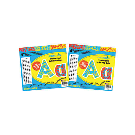"""Barker Creek Letter Pop-Outs, 4"""", Moroccan, Pack Of 510"""