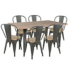 Lumisource Oregon Industrial Farmhouse Dining Table
