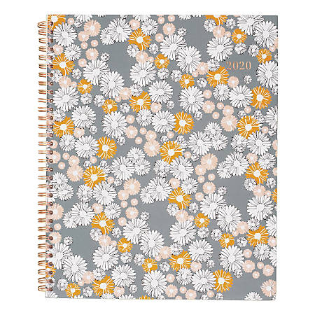 """Cambridge Chamomile Weekly/Monthly Planner, 8-1/2"""" x 11"""", Multicolor, January to December 2020"""