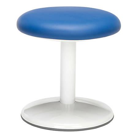 "OFM Orbit Active 14"" Vinyl Stool, Blue/White"
