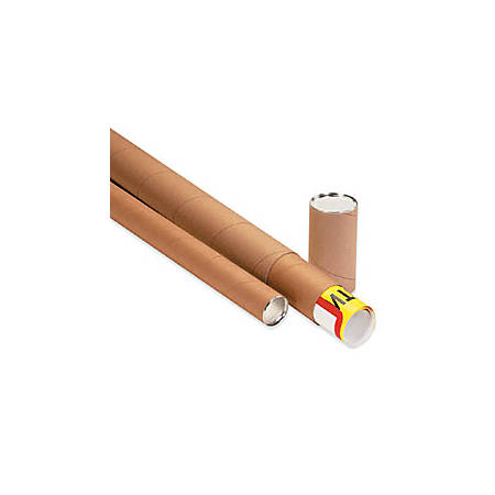 """Office Depot® Brand 3-Piece Telescopic Mailing Tubes, 4"""" x 42"""", 80% Recycled, Kraft, Pack Of 15"""