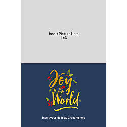 Flat Photo Greeting Card Gold And