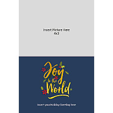 Photo Greeting Card Gold And Navy